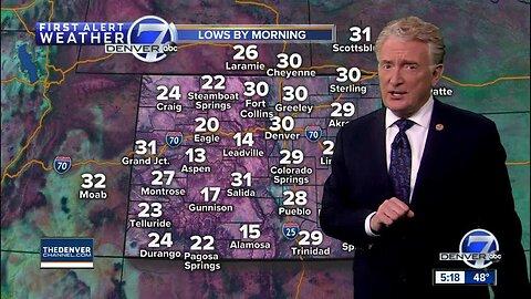 Gusty winds for Denver, snowy in the mountains