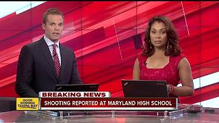 Shooting reported at high school in Maryland - Video