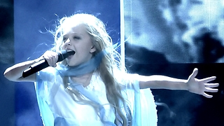 Little girl's performance dominates European song contest - Video