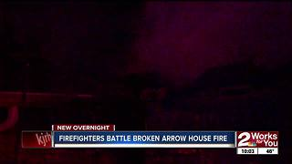 Broken Arrow house catches fire - Video