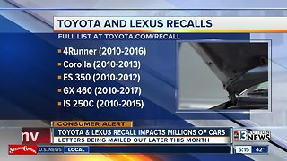 Toyota and Lexus latest recall