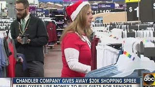 Chandler company gives away BIG shopping spree - Video