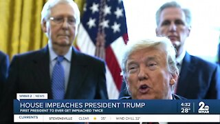House impeaches President Trump for second time