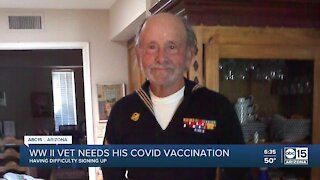 State steps in to make sure WWII veteran receives his COVID-19 vaccinations
