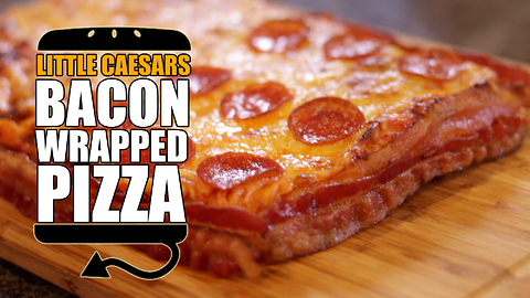 Little Caesar's bacon wrapped deep dish pizza recipe remake