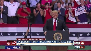 President Trump holds rally at Hertz Arena in Southwest Florida