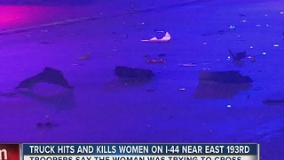 Truck Hits And Kills Woman On I-44 - Video