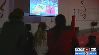 Fans gather to watch Nebraska Volleyball - Video