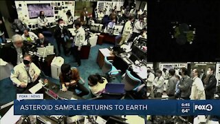 Asteroid sample returns to Earth