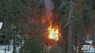 Cabin fire reported on Mt. Lemmon - Video