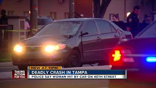Tampa Police investigating fatal crash involving vehicle and pedestrian