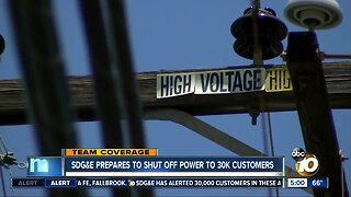 San Diego County residents prepare for possible outages