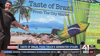 Generator stolen from 'Taste of Brazil' food truck