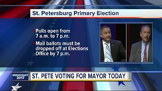 St. Petersburg Primary Election on Tuesday - Video