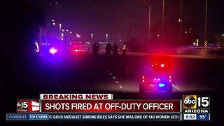 One sought after shots fired at off-duty officer's car in Phoenix - Video