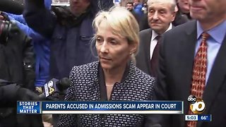 Parents accused in college admissions scandal in court