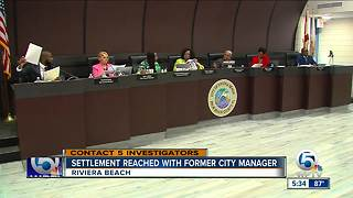 Settlement reached with former Riviera Beach City Manager