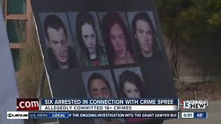 Las Vegas police arrest 6 in home invasion robberies - Video