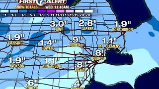 Another round of snow tonight - Video