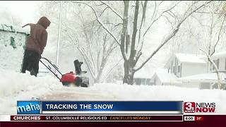Sarpy County residents battle the snow - Video