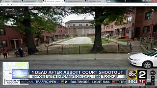 1 dead after shootout at Abbott Court - Video