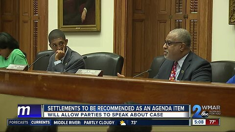 Settlements to be recommended as an agenda item for City Council