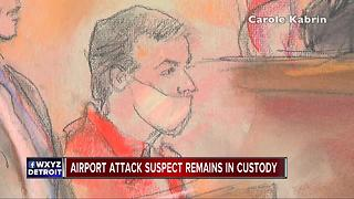 Accused Flint airport stabber will remain in custody