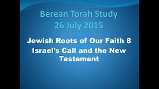 Israel's call and the new testament