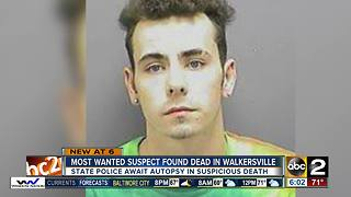 Most wanted suspect found dead outside Frederick - Video