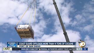 Coast Guard drops off seized cocaine in San Diego