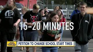 Pinellas County parents petition to change school start times - Video