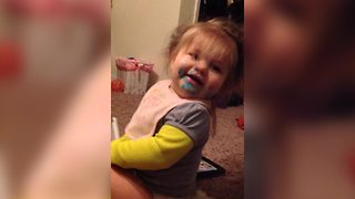 A Tot Girl Denies Eating Icing - Video