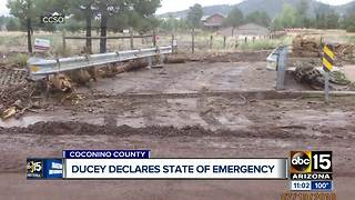 Gov. Ducey declares state of emergency after flooding - Video