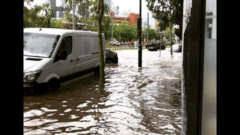 Flash Flooding in Southbank After Torrential Rain Lashes Melbourne CBD