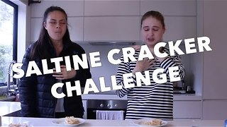 Model Completes Saltine Cracker Challenge - Video