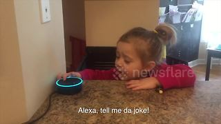 Toddler Gets Frustrated Because Alexa Doesn't Understand Her - Video