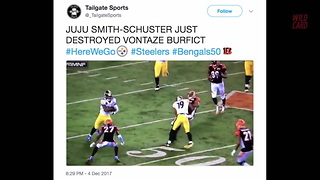 MNF Steelers Vs. Bengals Had Numerous Big Hits - Video