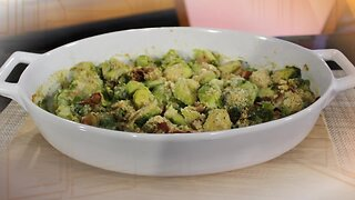 What's for Dinner? - Baked Brussels Sprouts with Bacon