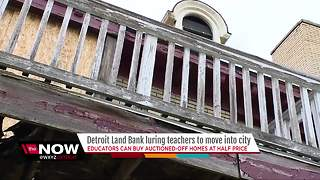 Detroit Land Bank luring teachers to move into city - Video
