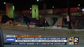 City considering getting rid of homeless camp - Video
