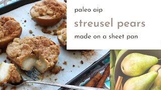 Streusel Pears Dessert from the AIP Sheet Pan Recipes Cookbook