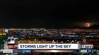 Light show on Tuesday night - Video