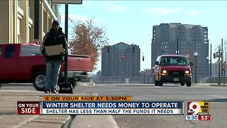 Cincinnati winter shelter has less than half the funds it needs, organizers say - Video