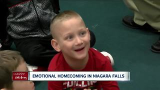 Big surprise for Niagara Falls family - Video