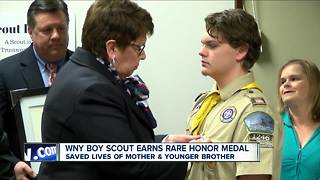 Boy Scout honored for his heroic actions - Video