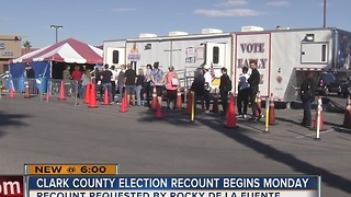 Clark County to begin recounting ballots Monday - Video