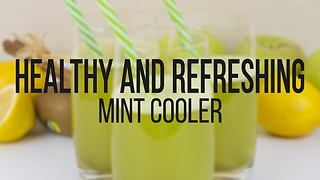 Healthy and refreshing mint cooler recipe - Video