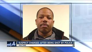 Man shot by Racine police faces 6 charges - Video