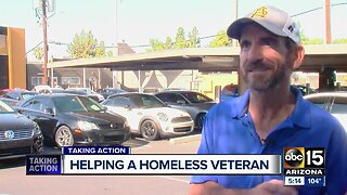 Helping a homeless veteran in the Valley