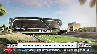 Stadium Authority approves Raiders lease - Video